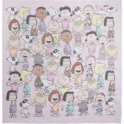 """Chusty damskie: Chusta """"Peanuts"""" w kolorze jasnoróżowym – 110 x 110 cm"""
