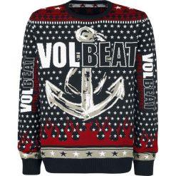 Volbeat Holiday Sweater Sweter z dzianiny czarny/czerwony/biały. Białe swetry klasyczne męskie Volbeat, xl, z napisami, z dzianiny, z dekoltem na plecach. Za 184,90 zł.
