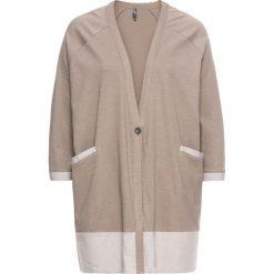 Sweter rozpinany bonprix brunatny. Brązowe kardigany damskie marki bonprix. Za 69,99 zł.