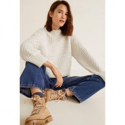 Mango - Sweter Land. Szare swetry klasyczne damskie Mango, l, z dzianiny, z okrągłym kołnierzem. Za 159,90 zł.