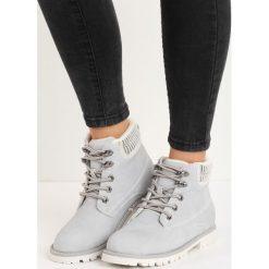 Szare Traperki Cut to the Chase. Szare buty zimowe damskie Born2be, z materiału, na płaskiej podeszwie. Za 109,99 zł.
