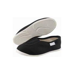 Buty gimnastyczne Rythm 300. Czarne buty fitness męskie marki Kazar, z nubiku, przed kolano, na wysokim obcasie. Za 19,99 zł.
