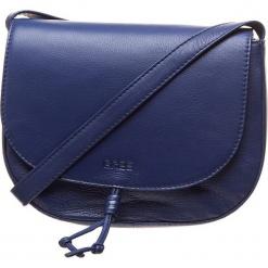 """Skórzana torebka """"Lusaka 2"""" w kolorze niebieskim - 28 x 32 x 10 cm. Niebieskie torebki klasyczne damskie BREE, w paski, z materiału. W wyprzedaży za 454,95 zł."""