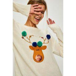 Answear - Sweter. Szare swetry oversize damskie ANSWEAR, l, z dzianiny. Za 99,90 zł.