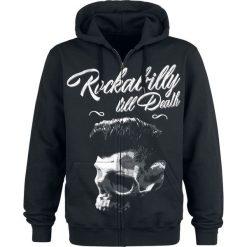 Bejsbolówki męskie: Rockabilly Till Death Bluza z kapturem rozpinana czarny