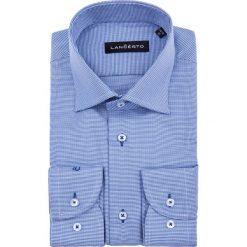 Koszula Granatowa w Pepitę Zamur. Niebieskie koszule męskie na spinki marki LANCERTO, m, z bawełny. W wyprzedaży za 199,90 zł.