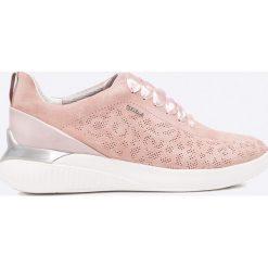 Geox - Buty. Szare buty sportowe damskie Geox, z gumy. W wyprzedaży za 329,90 zł.