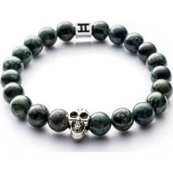 Bransoletki damskie: Bransoletka Gemini Classic Skull Green C3-G