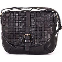 Torebki klasyczne damskie: Skórzana torebka w kolorze czarnym – 30 x 24 x 10 cm
