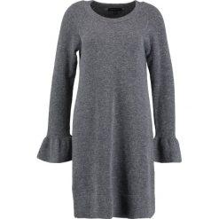 Sukienki: Banana Republic RUFFLE CUFF Sukienka dzianinowa med grey heather