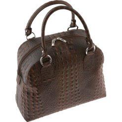 Torebki klasyczne damskie: Skórzana torebka w kolorze brązowym – 30 x 25 x 14 cm