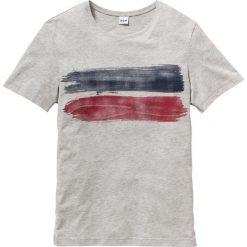 T-shirt z nadrukiem Regular Fit bonprix jasnoszary melanż. Szare t-shirty męskie z nadrukiem bonprix, m. Za 34,99 zł.