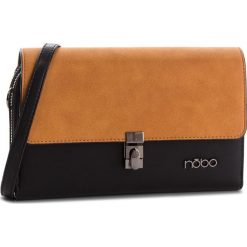 Torebka NOBO - NBAG-F2350-CM02 Czarny Z Żółtym. Brązowe listonoszki damskie marki Nobo, z materiału. W wyprzedaży za 139,00 zł.