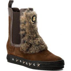 Botki BALDININI - 814043A33ZCRUS4145 Crosta Bruno. Brązowe buty zimowe damskie Baldinini, z materiału, na obcasie. W wyprzedaży za 1429,00 zł.