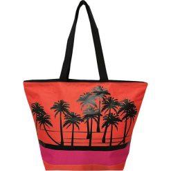 """Torba plażowa """"Acapulco"""" w kolorze czarno-czerwonym - 35 x 58 x 23 cm. Czarne shopper bag damskie Le Comptoir de la Plage, z tworzywa sztucznego. W wyprzedaży za 38,95 zł."""