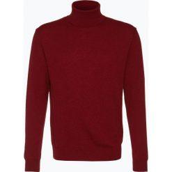 Golfy męskie: Andrew James – Sweter męski z czystego kaszmiru, czerwony