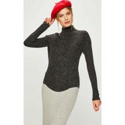 Answear - Sweter. Szare golfy damskie marki ANSWEAR, l, z dzianiny, z krótkim rękawem. Za 99,90 zł.