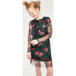 Sukienki dziewczęce: Tiulowa sukienka z falbaną – Czarny