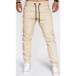 Spodnie męskie: SPODNIE MĘSKIE JOGGERY P333 - BEŻOWE