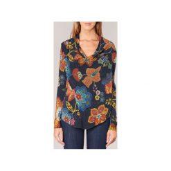 Swetry Desigual  POURTI. Szare swetry klasyczne damskie marki Desigual, l, z tkaniny, casualowe, z długim rękawem. Za 279,20 zł.