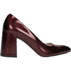 Czółenka HARUMI. Czerwone buty ślubne damskie Gino Rossi, z lakierowanej skóry. Za 299,90 zł.