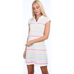 Sukienka pastelowa polo / żółty 7577. Żółte sukienki Fasardi, l, polo, oversize. Za 59,00 zł.