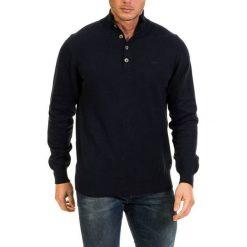 Golfy męskie: Sweter w kolorze granatowym