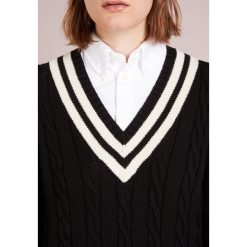 Polo Ralph Lauren CRICKET Sweter black/cream. Czarne swetry klasyczne damskie Polo Ralph Lauren, m, z bawełny, polo. Za 839,00 zł.