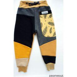 Patch Pants - ECO dres 104 - 152 cm piórka. Szare spodnie dresowe dziewczęce Pakamera, z dresówki. Za 109,00 zł.