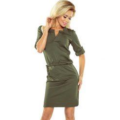 Sukienki: DOROTA Sukienka z kołnierzykiem – KHAKI