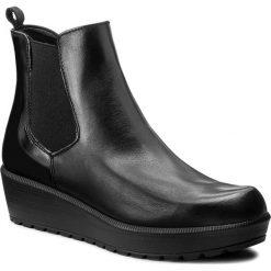 Botki TAMARIS - 1-25486-29  Blk/Blk Brush 035. Czarne buty zimowe damskie marki Tamaris, ze skóry ekologicznej, na obcasie. W wyprzedaży za 229,00 zł.