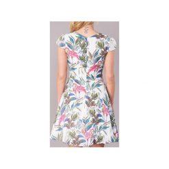 Sukienki krótkie Derhy  ANIMAL. Białe sukienki mini Derhy, l, z krótkim rękawem. Za 367,20 zł.