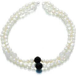 Naszyjniki damskie: Naszyjnik z perłami i kamieniami – (D)46 cm