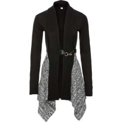 Sweter rozpinany bonprix czarno-szary. Czarne kardigany damskie bonprix. Za 129,99 zł.