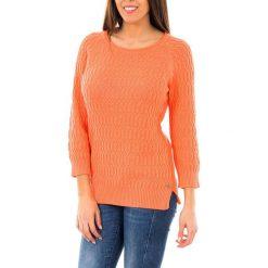 Swetry klasyczne damskie: Sweter w kolorze pomarańczowym