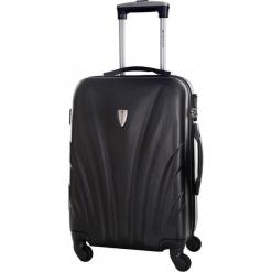 Walizka w kolorze czarnym - 99 l. Czarne walizki marki Platinium, z materiału. W wyprzedaży za 269,95 zł.