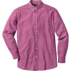 Koszule męskie: Koszula w paski Regular Fit bonprix jeżynowo-ciemnoniebiesko-biały w paski