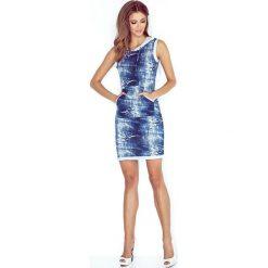 Marta Sukienka z kapturem - KANGURKA - krótka - jeans DZIURY. Niebieskie sukienki mini marki morimia, s, z jeansu, sportowe, z kapturem, z krótkim rękawem, sportowe. Za 119,99 zł.
