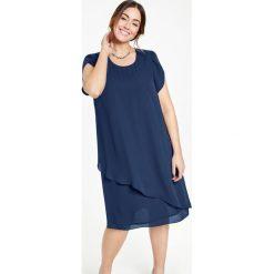 Sukienki: Sukienka o linii A z warstwowym przodem
