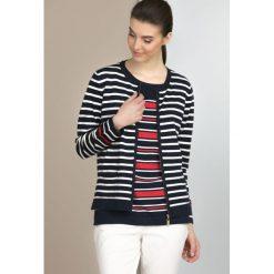Prążkowany sweter w marynarskim stylu. Szare swetry klasyczne damskie Monnari, prążkowane. Za 114,50 zł.