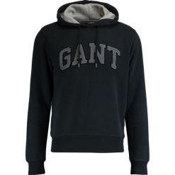 Kardigany męskie: GANT EMBRODERY HOODIE Bluza z kapturem black