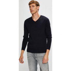 Tom Tailor Denim - Sweter. Szare swetry klasyczne męskie marki TOM TAILOR DENIM, l, z bawełny, z okrągłym kołnierzem. W wyprzedaży za 89,90 zł.