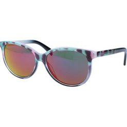 """Okulary przeciwsłoneczne damskie aviatory: Okulary przeciwsłoneczne """"JC680S 98Z"""" w kolorze turkusowo-różowym ze wzorem"""