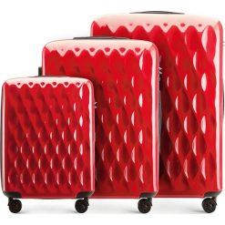 Zestaw walizek 56-3H-55S-30. Czerwone walizki marki Wittchen, z gumy, duże. Za 555,21 zł.