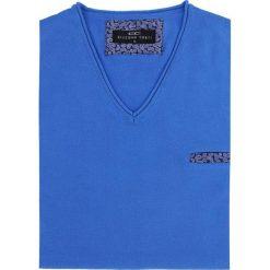 Sweter DARIO 16-05JK. Niebieskie swetry klasyczne męskie Giacomo Conti, m, z bawełny, z klasycznym kołnierzykiem. Za 169,00 zł.