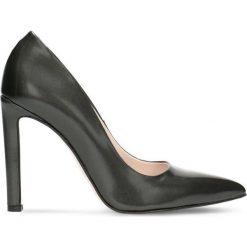 Czółenka INGRID. Czarne buty ślubne damskie Gino Rossi, ze skóry, na obcasie. Za 299,90 zł.