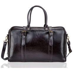 Brązowa Skórzana męska torba podróżna, weekend Solier MARSHALL. Brązowe torby na ramię męskie marki Kazar, ze skóry, przez ramię, małe. Za 639,00 zł.