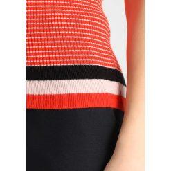 Swetry damskie: YAS YASPICARO Sweter orange/potpurri/black