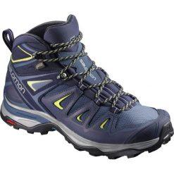 Buty trekkingowe damskie: Salomon Buty damskie X Ultra 3 Mid GTX W Crown Blue/Evening Blue/Sunny Lime r. 38 2/3 (398691)