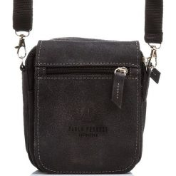 Czarna TORBA SASZETKA NA RAMIĘ I DO PASKA PAOLO PERUZZI. Czarne torby na ramię męskie Paolo Peruzzi, w paski, z materiału, na ramię. Za 149,00 zł.